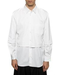 Comme des Garçons White Two-tiered Shirt for men