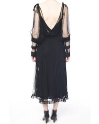 RED Valentino Black Open-shoulder Lace Dress