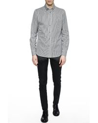 Alexander McQueen White Striped Shirt for men