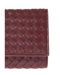 Bottega Veneta Purple Leather Wallet for men