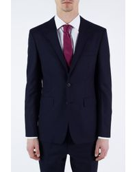 Burberry Blue Single-vented Suit for men