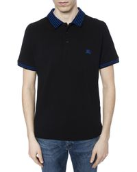 Burberry Black Logo Polo for men