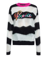 Versace Multicolor Striped Sweater