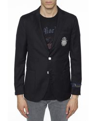 Billionaire Multicolor Logo-patched Blazer for men