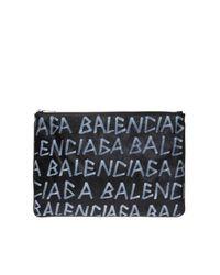 Balenciaga Black Carry Clip M Clutch for men