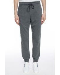 Versace Gray Logo-stitched Sweatpants for men
