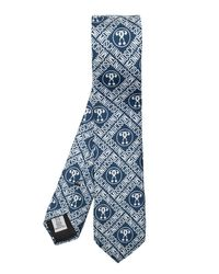 Moschino Blue Tie With Logo for men