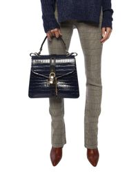 Chloé 'aby' Shoulder Bag Navy Blue