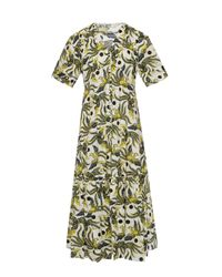 KENZO Green Animal Motif Dress