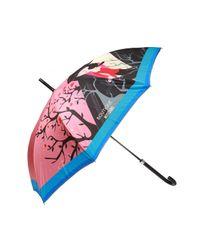 Moschino Pink Printed Umbrella