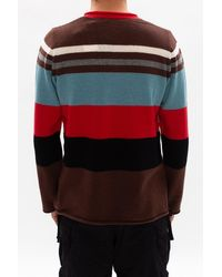 Undercover Red Striped Sweater for men