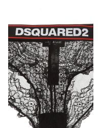 DSquared² Black Openwork Briefs With A Logo