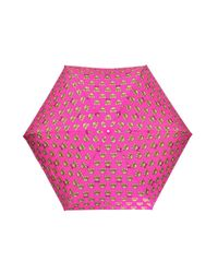Moschino Pink Patterned Umbrella With Teddy Bear