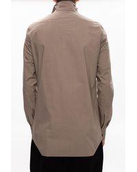 Rick Owens Gray Cotton Shirt for men
