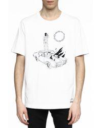 DIESEL - White Printed T-shirt for Men - Lyst