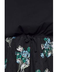 RED Valentino - Black Floral Bottom Dress - Lyst