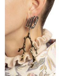 Chloé Metallic Drop Earrings