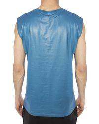 Off-White c/o Virgil Abloh Blue Sleeveless T-shirt for men