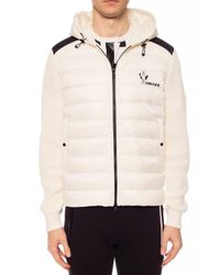 Moncler Natural Sweatshirt With Quilted Front for men