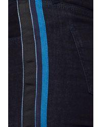Victoria, Victoria Beckham Blue Side-stripe Jeans