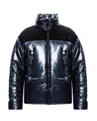 Off-White c/o Virgil Abloh Blue Puffer Jacket With Logo for men