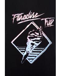 Saint Laurent Black Paradise Trip Slogan T-shirt