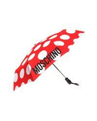 Moschino Red Logo-printed Umbrella