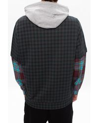 Burberry Multicolor Checked Hoodie for men