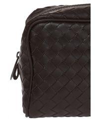 Bottega Veneta Black Leather Wash Bag for men