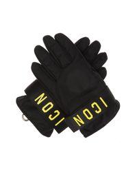 DSquared² Black Printed Gloves
