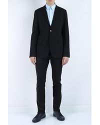 Emporio Armani - Black Textured Fabric Jacket for Men - Lyst
