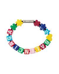 Balenciaga Multicolor Branded Bracelet Multicolour for men