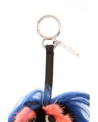 Fendi - Red Fur Key Ring - Lyst