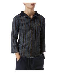 Vivienne Westwood Blue Selvedge Knit Navy Stripes for men