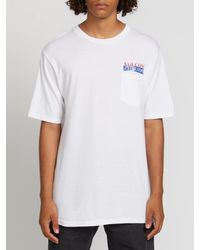 Volcom White Reflection Short Sleeve Pocket Tee for men