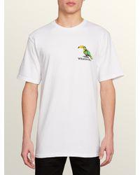 Volcom White Bad Bird Short Sleeve Tee for men
