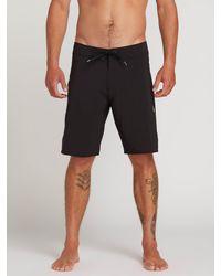 Volcom Black Lido Solid Mod Trunks for men