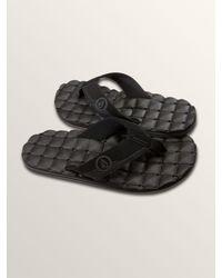 Volcom - Black Recliner Sandals - Blue Combo - 12 for Men - Lyst