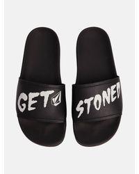 Volcom - Black Don't Trip Slide Sandals for Men - Lyst
