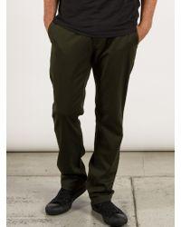 Volcom - Green Frickin Modern Stretch Chino Pants for Men - Lyst
