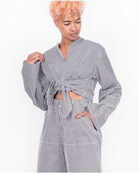 House Of Sunny Gray Wranger Shirt / Stripes