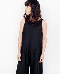 First Rite | Crop Pantsuit / Black | Lyst