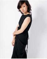 Uzi - Refugee Dress / Black Cotton - Lyst