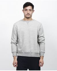 Still By Hand - Gray Crewneck Sweater for Men - Lyst