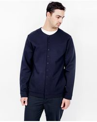 Still By Hand - Blue Snap Button Cardigan / Navy for Men - Lyst