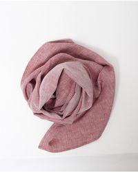 Dillon Montara - Pink Red Herringbone Scarf for Men - Lyst