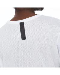 Nike White Droptail Bonded Tee for men