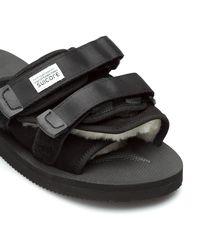 Suicoke Black Moto Sandals for men