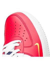 Nike Red Air Force 1 07 Lv8 for men