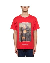 T-shirt Monalisa di Off-White c/o Virgil Abloh in Red da Uomo